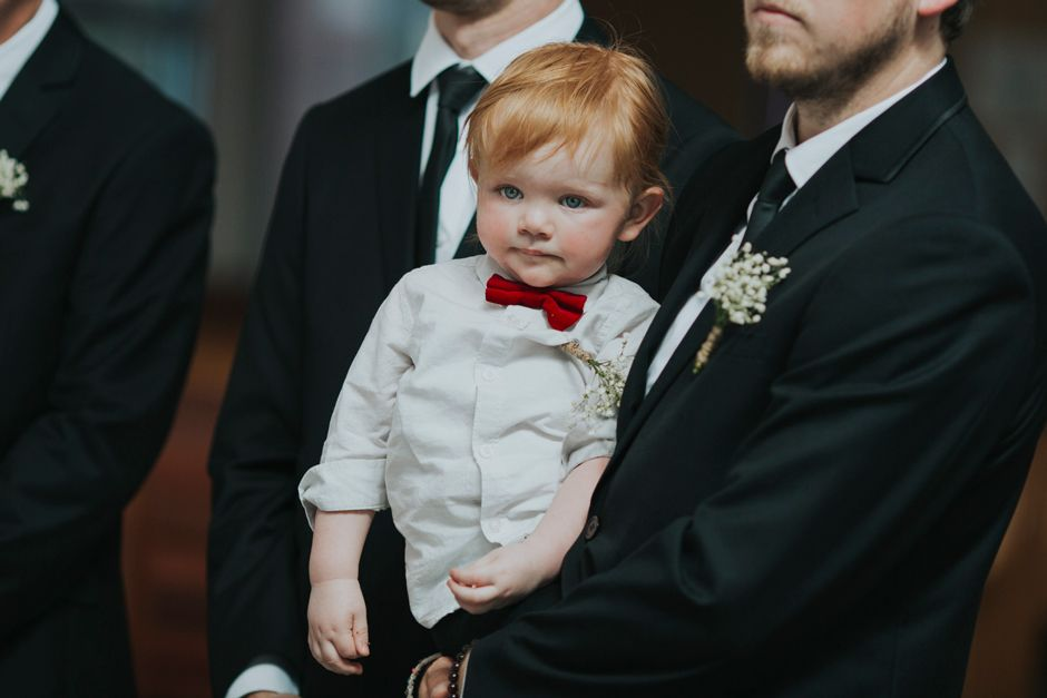 young boy at wedding ceremony